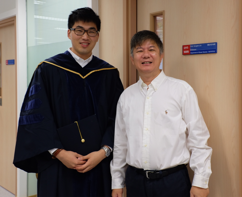 Prof. LIU Hongbin (right) and his post-doctoral fellow Dr. Isaac Cheung are the co-corresponding authors of the paper