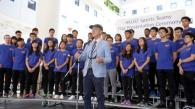 President CHAN officiates the 2017-18 HKUST Sports Teams Flag Presentation Ceremony for sending HKUST delegation to Intervarsity Sports Competitions