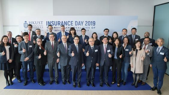 Group photo with representatives of participating insurance companies.