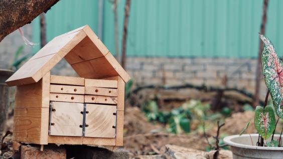 By using wood and other materials, a small base for solitary bees can be put anywhere whether at home or in the park, creating more pollination for the natural environment.
