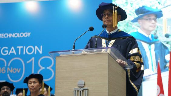Prof. Wei SHYY delivers his installation speech.