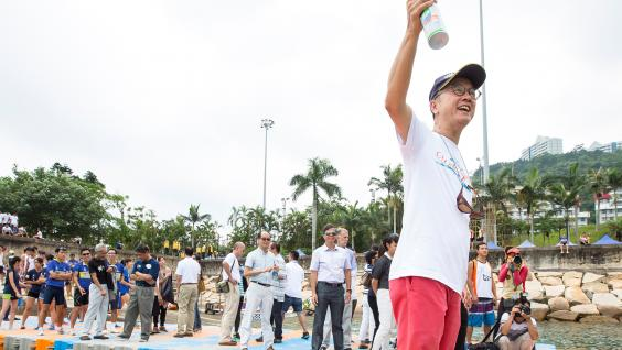 President Tony Chan officiates the Water Sports Festival