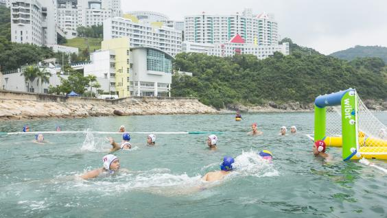 Water Polo race at HKUST