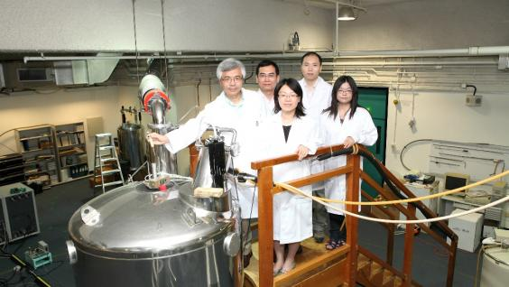Members of the research team (from left to right) , Prof Mingjie Zhang, Chair Professor of Division of Life Science and Mr Wei Liu, PhD Student, Division of Life Science of HKUST; Dr Wen Wenyu, Associate Professor, Institutes of Biomedical Science, Fudan University; Dr Zhiyi Wei, Tin Ka Ping Fellow, Institute for Advanced Study and Ms Fei Ye, PhD Student, Division of Life Science of HKUST.