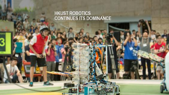 HKUST Robotics Team wins Robocon Hong Kong Contest for the fifth consecutive year and sweeps a total of 9 robotic awards from April till now.