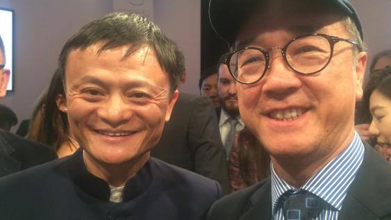 (From left) Dr Jack Yun Ma and Prof Tony F Chan attend the World Economic Forum.