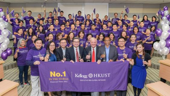 The current cohort of the Kellogg-HKUST EMBA celebrates the program top status for the ninth time.